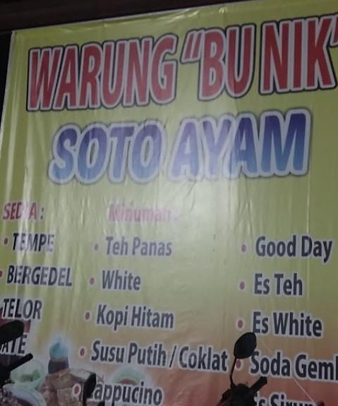 Soto Ayam Bu Nik Pekunden Semarang